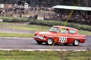 Ford Anglia Superspeed. John Young. Brands Hatch August 1966 colour